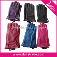 6 Colors Fashion PU Women Winter Leather Gloves