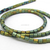 HB3085 Hematite Gemstone Tube Spacer Beads strands, Natural magnetic Hematite Gemstone Tube Beads