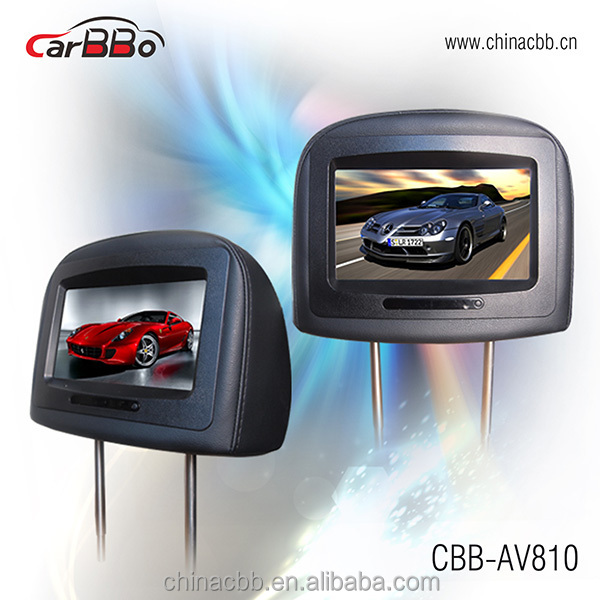 "hot sale 8"" car headrest dvd TFT LCD Monitor with Pillow"