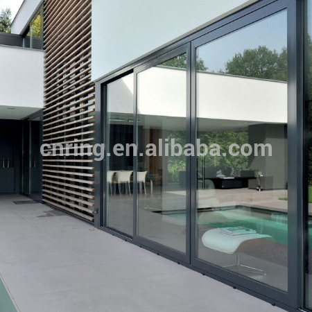 modern sliding aluminium alloy glass balcony door