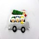 New design car shape polyresin craft christmas tree ornaments for sale