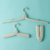 OEM portable travel folding plastic cloth hanger