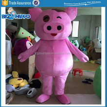 Smiling Cartoon Pig Character Costume Party Activity
