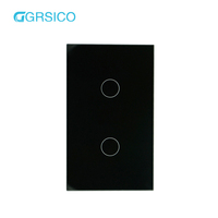 220V Wifi Remote Control Crystal Glass Touch Panel Smart Light Switch For Hotel and Housing