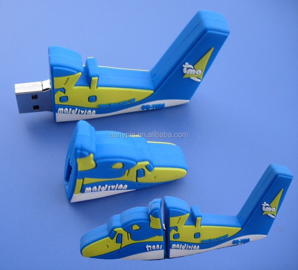 3D airplane shaped USB cover/USB cap