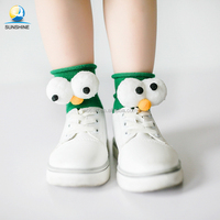 2017 popular baby socks high quality customized cotton knitted 3D pom baby socks