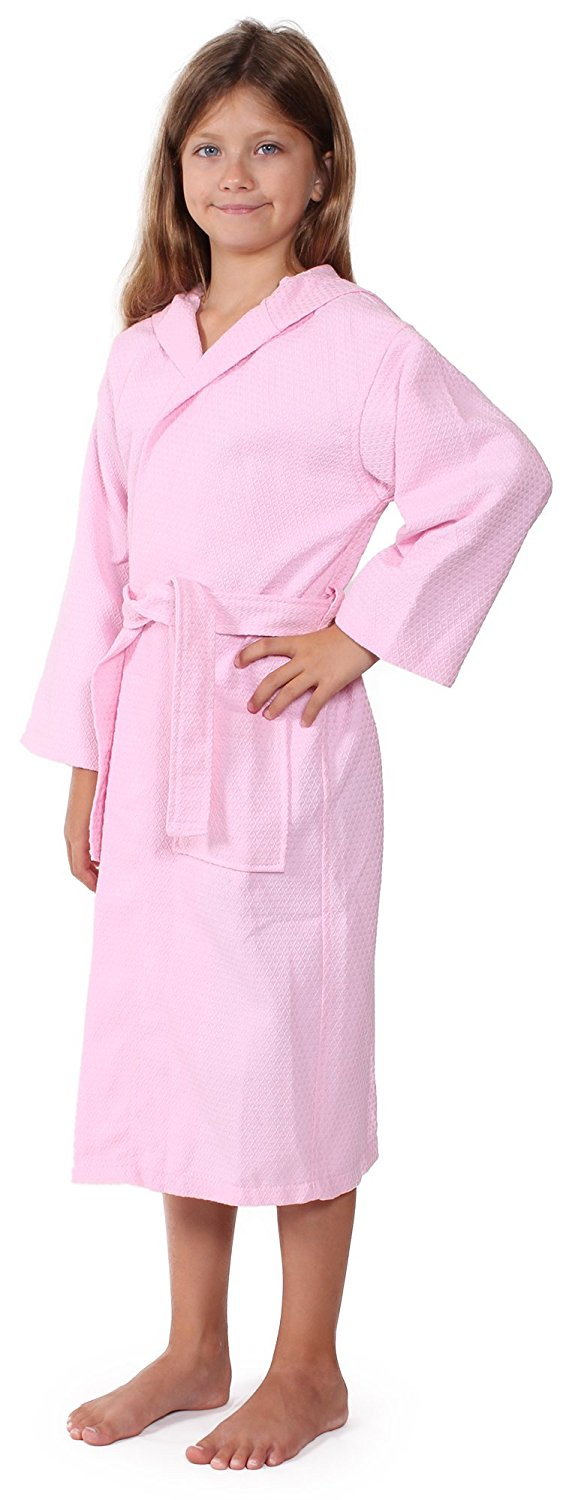 e326297423 Get Quotations · Indulge Linen Kids Waffle Bathrobe for Girls and Boys