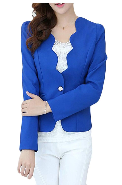 GAGA Women's Cardigan, Casual Zipper Cardigan Blazer Slim Fitted Office Jacket