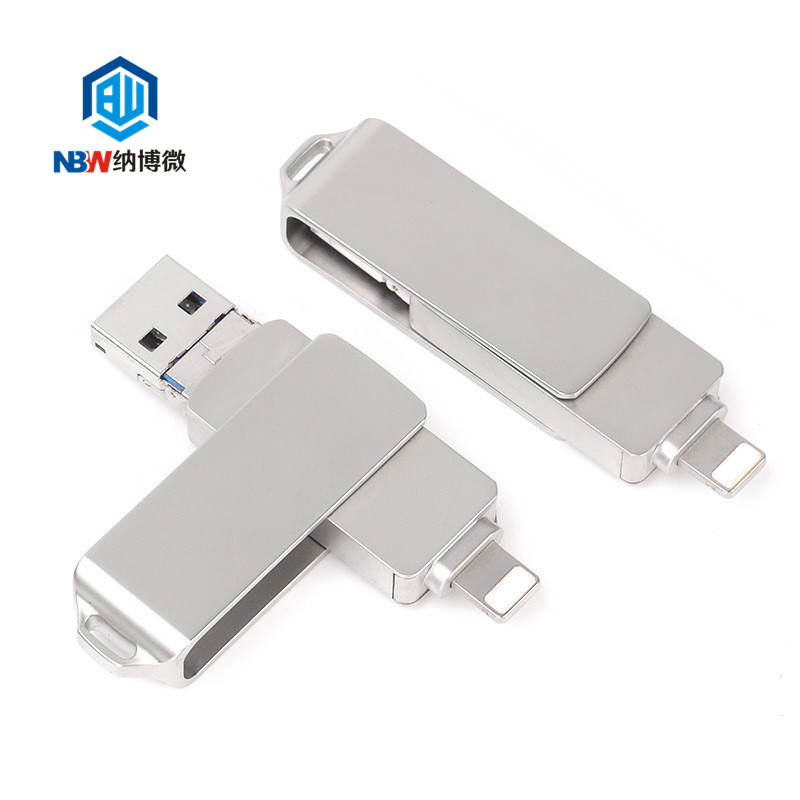 High Speed 32GB 64GB 128GB otg pendrive  3 IN 1 otg USB 3.0 flash drive for Iphone iPhone 8 8 Plus Iphone X android and PC
