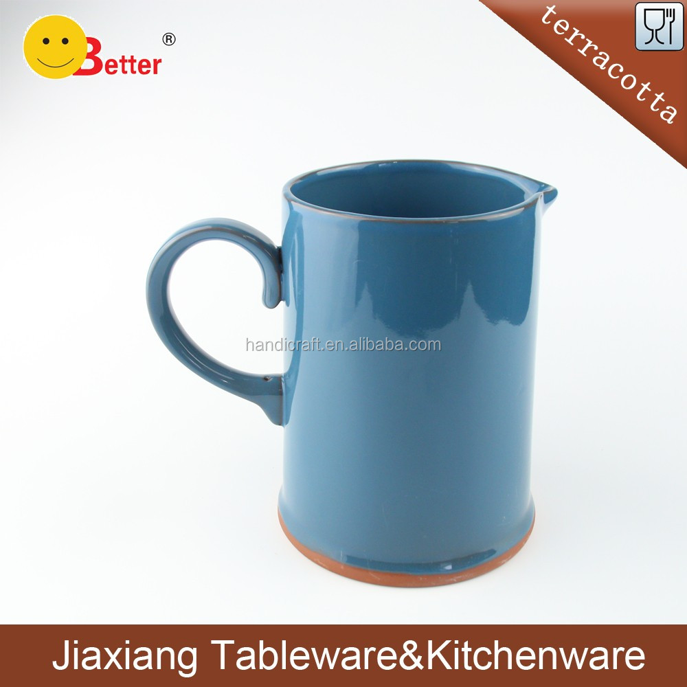 2017 New Ceramic Cold and hot Water Jug Blue glazed Terracotta Clay drink Water Tea Jug