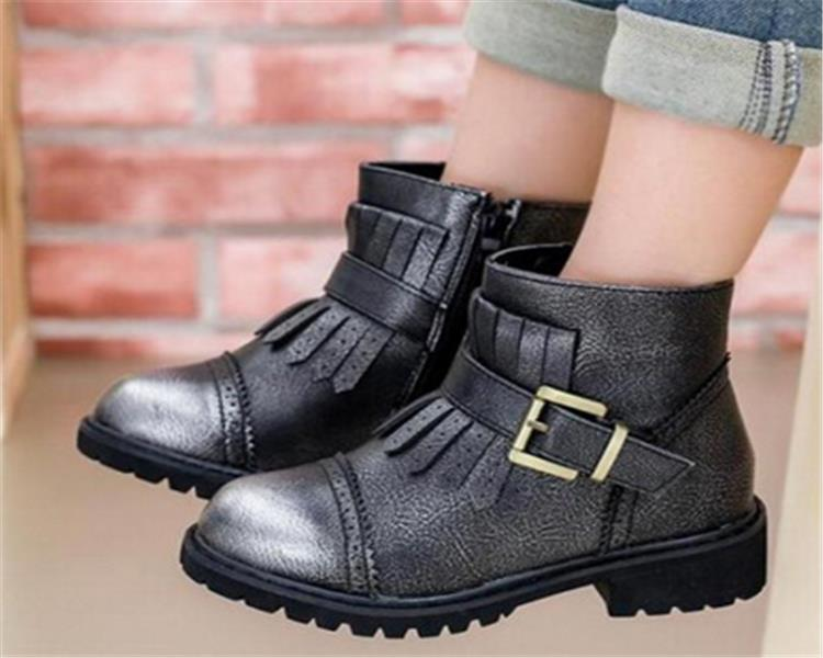 Leather Thigh High Heel Boots For Kids Leather Thigh High Heel