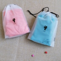 Custom LOGO frosted zip lock plastic underwear zipper swimming clothes packaging bag
