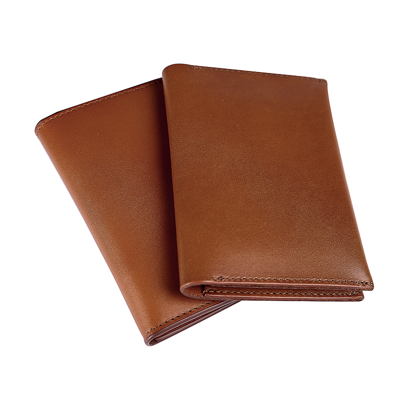 2018 handcraft vintage slim Vegetable Tanned leather passport & card  holder inside passport , cash and cards for men and women
