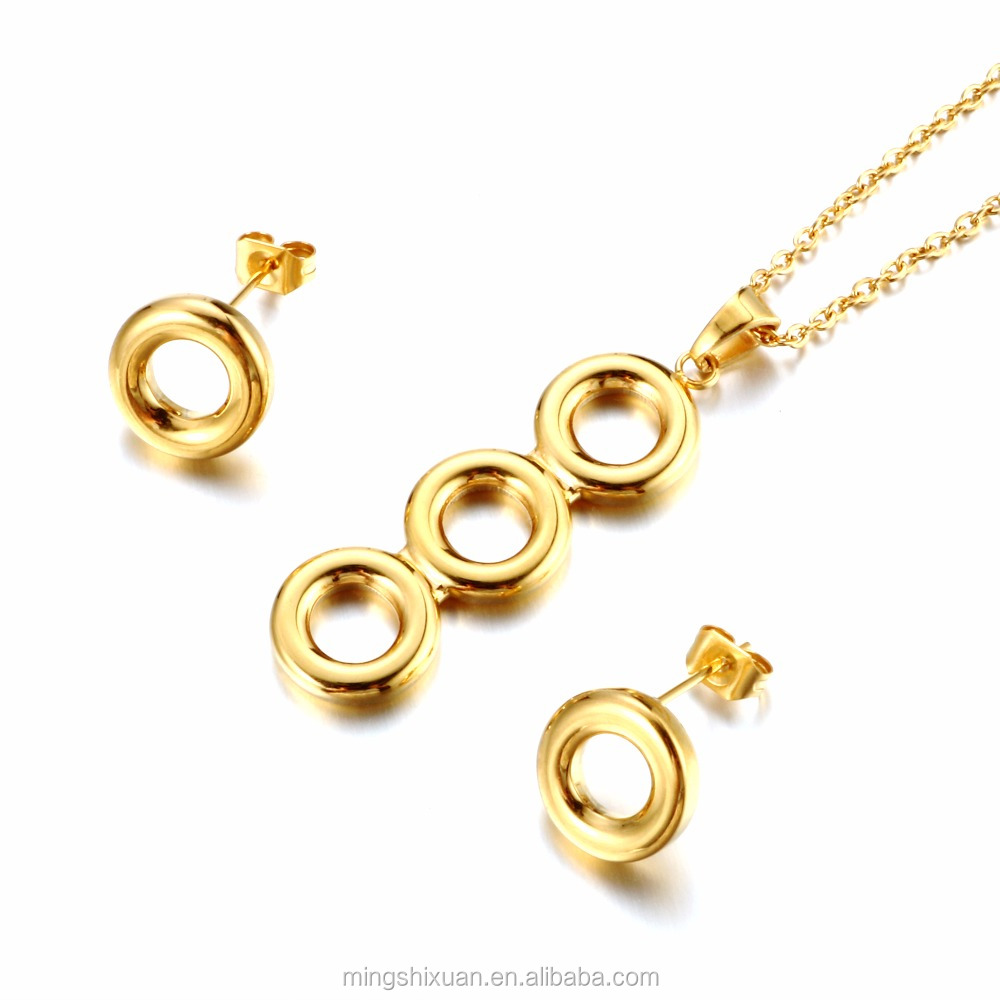 18k gold plating jewelry wholesale pendant earring jewelry set cheap price