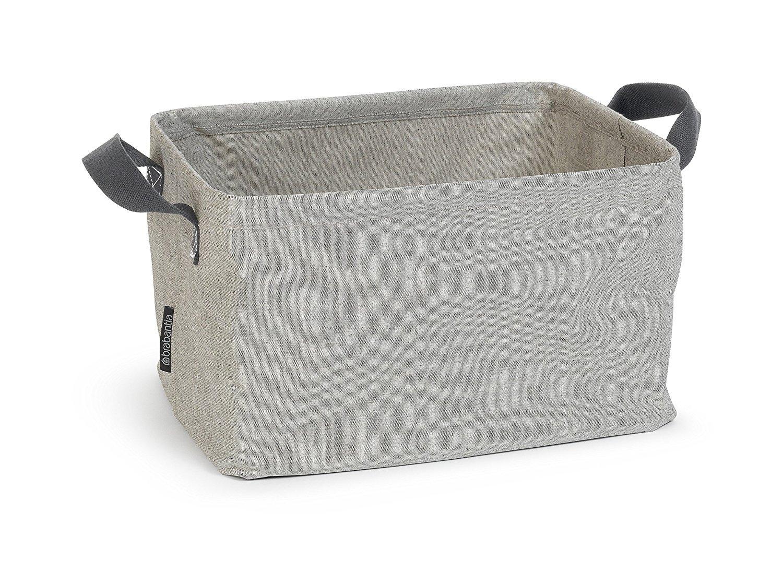 Brabantia Laundry Basket - Foldable, Laundry Basket, Laundry Crate, Laundry Gatherer, Laundry Sack, Laundry Box, Laundry Bin, Grey, Grey, 105685