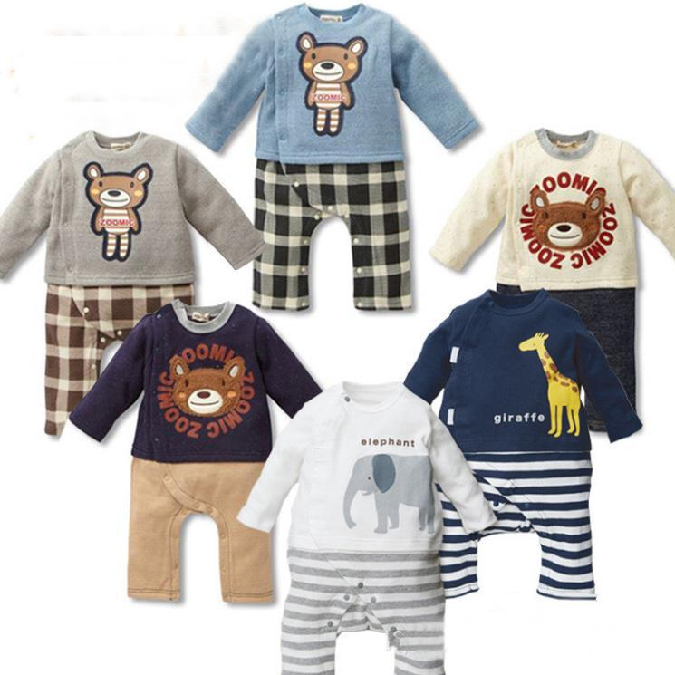 Cute Bear Animal Baby Rompers Long Sleeves Baby Girls Clothing Cartoon Jumpsuit Kids Newborn Carters Baby
