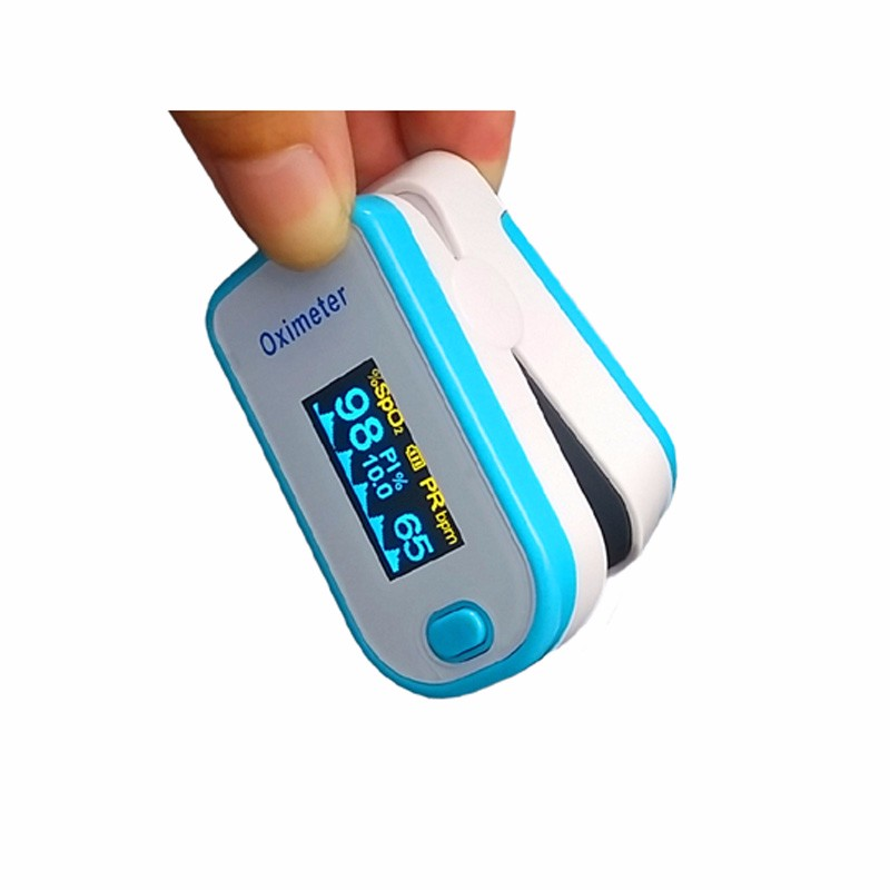 Home use pulse oxygen saturation meter digital oled pulse oxymeter fingertip