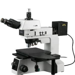 AmScope ME600TZC Episcopic Trinocular Metallurgical Microscope, 50X-2500X Magnification, PL10x and PL25x Extreme Widefield Eyepieces, Infinity Plan Long Working Distance Objectives, Kohler Condenser, Brightfield/Darkfield/Polarizing Halogen Illumination with Rheostat, Large Double-Layer Mechanical