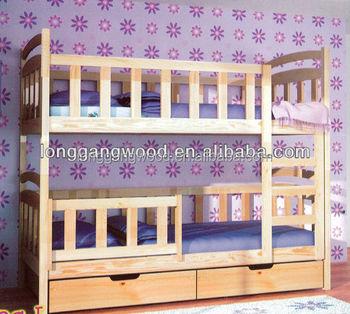 Wood Bunk Bed With Desk Children School Furniture Child Bed Buy