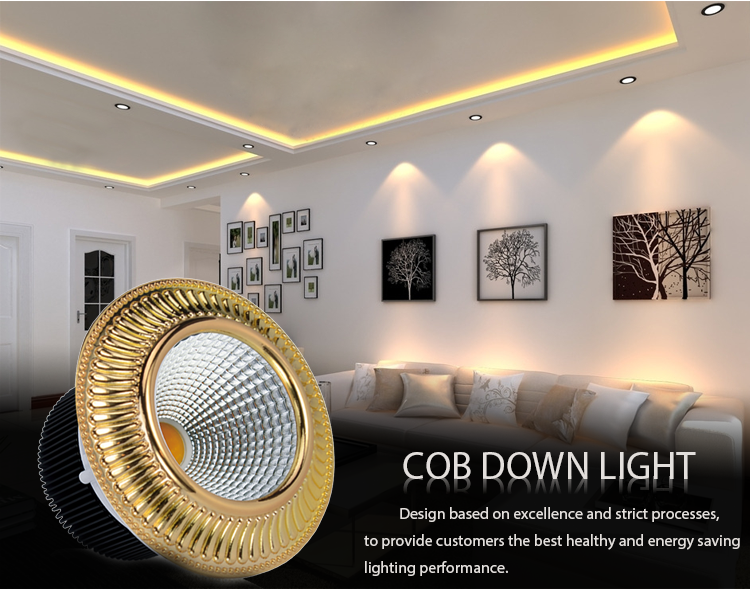 gold colored led spotlights cheap price recessed for wholesale-8