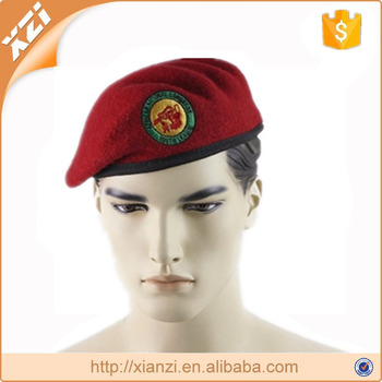 Wholesale factory male beret embroidery badge beret