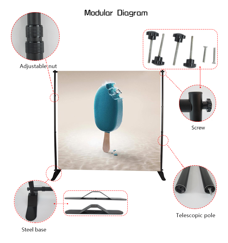 hot sale portable adjustable aluminum retractable banner stand