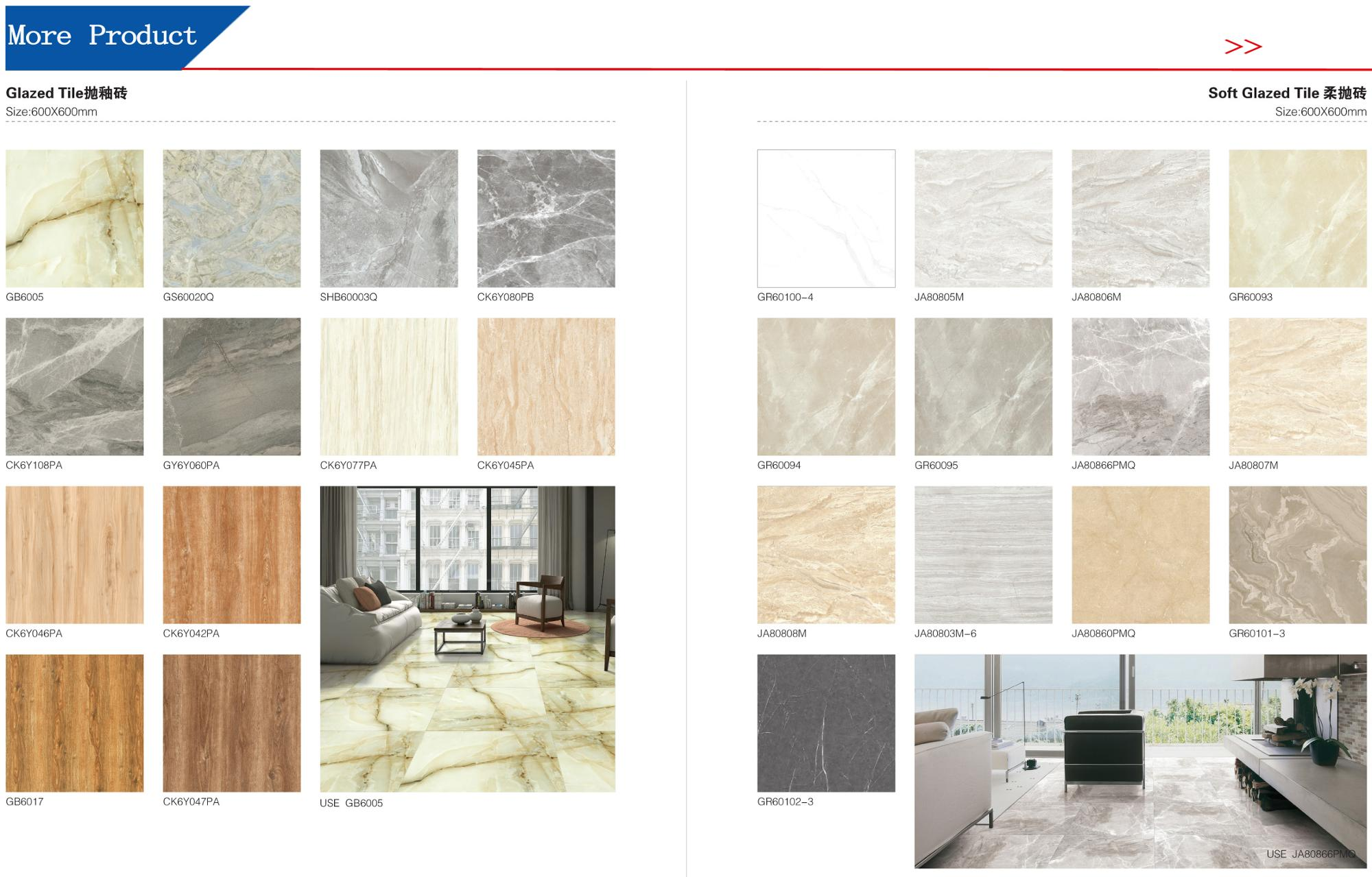Foshan New House Pink Ceramic Floor Tiles Design Porcelanato Floor 60x60