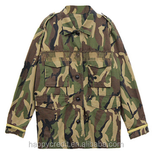 100% Cotton Twill Custom Camouflage Printed Woman Parka Jacket with Golden Metal Tassel