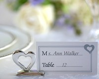love heart metal wedding place card holders party decoration