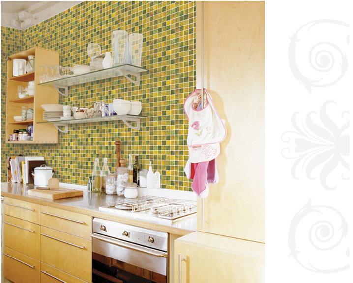 Adesivi per piastrelle bagno carta da parati impermeabile for Mattonelle adesive da parete
