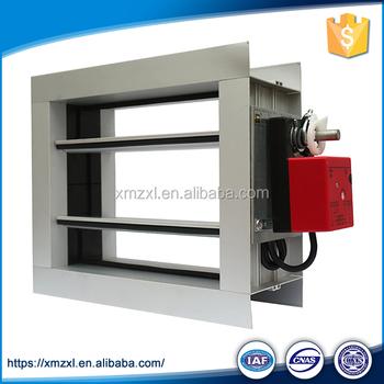 Galvanized steel smoke fire damper automatic motorized air for Motorized smoke fire damper