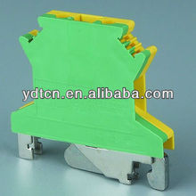 din rail yellow/green grounding terminal
