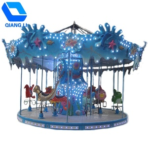 outdoor christmas fairground kids ride used merry go round carousel China kids carousel rides, small carousel merry go round