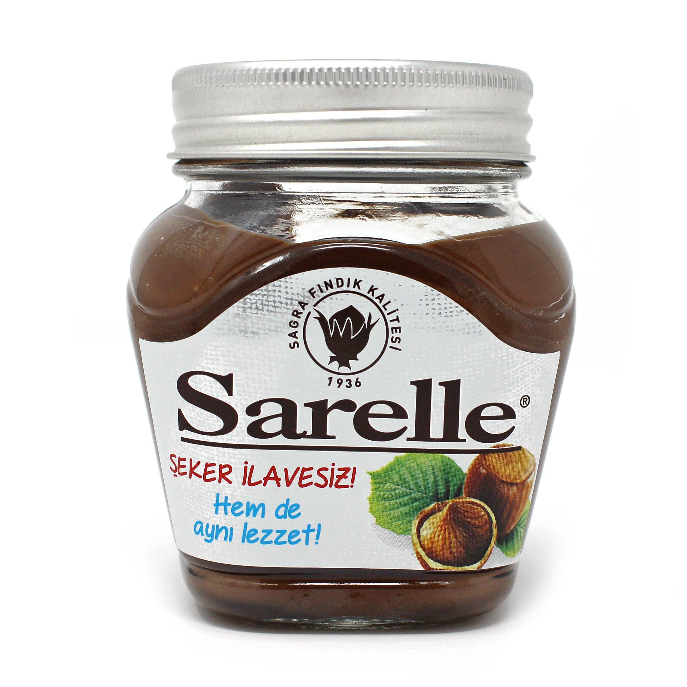 Sarelle Chocolate and Hazelnut Spreads (Turkish) (Chocolate w Hazelnut SUGAR FREE, 350 Gr / 12.3 Oz)