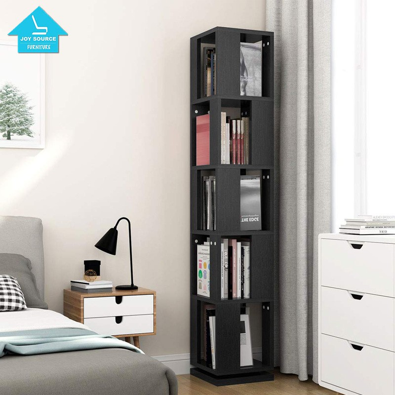 meet c69e1 d40db Modern Corner Rotating Bookshelf Bookcase Black For Home Office - Buy  Bookcases Library L-shaped Wooden Bookcase With Ladder Oak,Bookcase Wood ...
