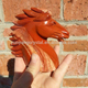 Natural small red jade quartz crystal horse statue carved for sale