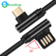 90 Degree Fast Charging Gold plate Right Angle Micro USB Charging Data Sync Cable For Xiaomi Huawei Samsung Micro usb cable