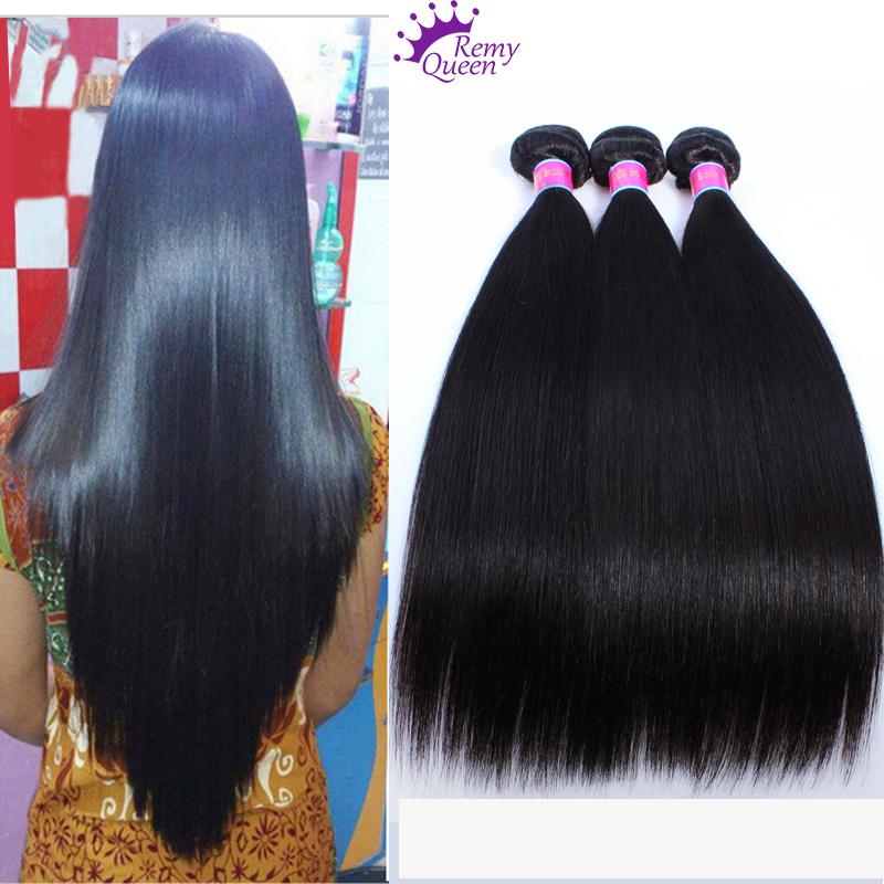 Hot Peruvian virgin hair straight 4 bundles 7A straight peruvian hair extension Unprocessed human hair weave