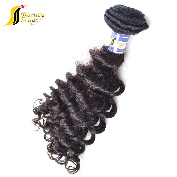 Brazilian Human Hair 8 Inch Clip In Double Weft Braid Human Hair