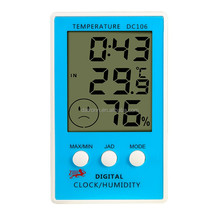 DC106 Digital lcd desk clock with temperature and humidity meter