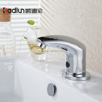 Sanitary Ware Brass Bathroom With Polished Chrome Automatic Sensor Faucet  For Bathroom Automatic Faucet