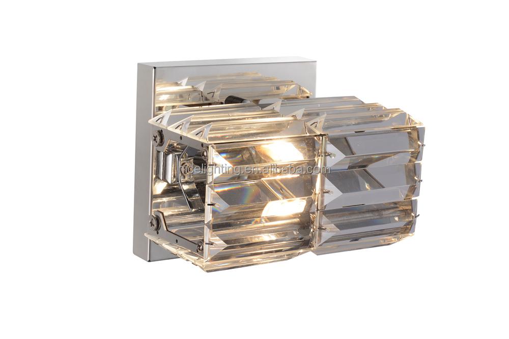 1 luce lampada da parete di cristallo con multi sfaccettato k9