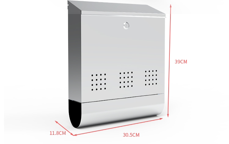 New Design Stainless steel Vertical Lockable Mailbox