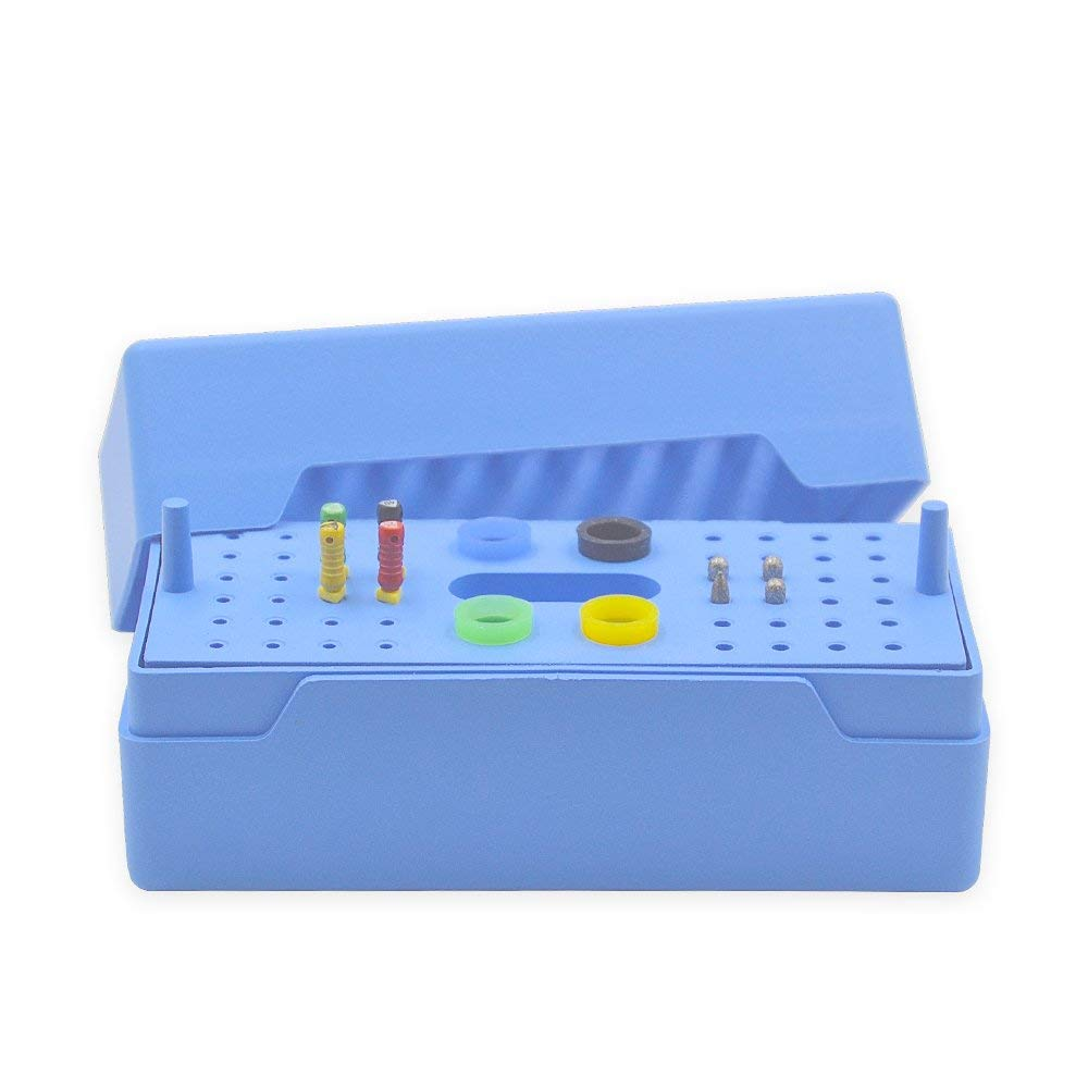 48 Holes Dental Endo Box Storage Box Disinfection Boxed Set, Disinfection for Dental Burs File Drill Tooth Rubber Tip Tools by Dentboss