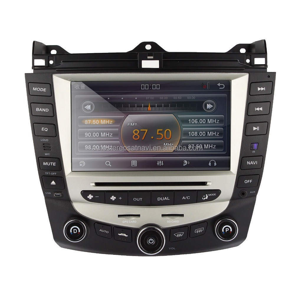 8 inch touch screen car dvd gps player for Honda Accord 07