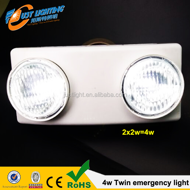 Two twins head portable fire emergency light Rechargeable Emergency Lamp, Automatic Twin Spots Emergency Light 220V