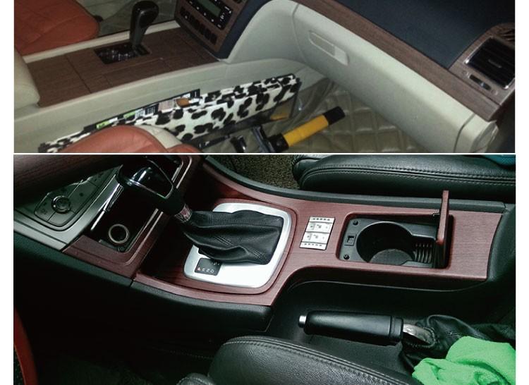 Yüksek Kalite 1.52x30 m ahşap arabanın içinde sticker vinil giysi kapağı