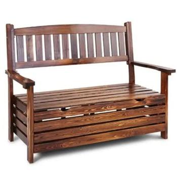 Backrest Patio Storage Wooden