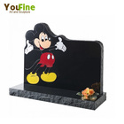 Black Granite Mickey Mouse Shaped Headstone For Sale