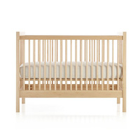 Safety and environmental three levels adjustable solid wood baby bed crib with wooden playpen